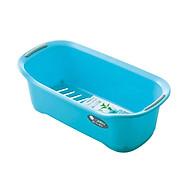 Khay chứa đồ dùng phòng tắm tiết kiệm không gian (màu xanh) - Hàng nội địa Nhật thumbnail