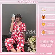 Bộ đồ ngủ, đồ bộ Pijama lụa nữ mặc nhà tay ngắn quần dài bigsezi chất kate thái thumbnail