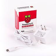 Nguồn Official 5.1V - 3A type C white dành cho Raspberry Pi 4 Model B - Hàng Chính Hãng thumbnail