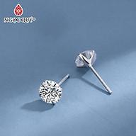 Bông tai nụ đít đẩy bạc S925 - Bông tai nụ bạc - Ngọc Quý Gemstones thumbnail