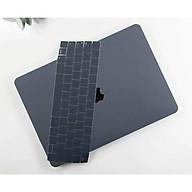 Case ốp nhựa ABS bảo vệ macbook siêu mỏng nhẹ không nóng máy kèm tấm phủ phím silicon chống nước màu xám siêu đẹp - Hàng chính hãng thumbnail
