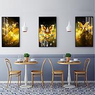 Tranh treo tường, tranh đồng hồ NT192 bộ 3 tấm ghép thumbnail