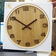 Đồng hồ gỗ treo tường trang trí phòng khách thumbnail