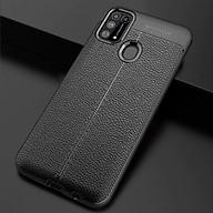 Ốp lưng silicon dẻo giả da Auto Focus cao cấp dành cho Samsung Galaxy M31 - Hàng chính hãng thumbnail