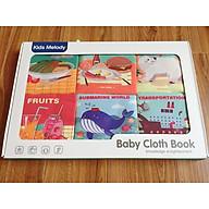 Sách vải - Sách vải set 6 quyển cho các bé sơ sinh từ 0m+ thumbnail