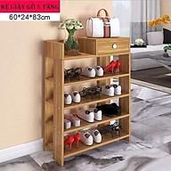 Kệ để giày, kệ giày, kệ giày dép,tủ giày gỗ 5 tầng kích thước 83cm 24cm 60cm thumbnail