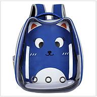 Balo phi hành gia trong suốt vận chuyển chó mèo, túi vận chuyển thú cưng nhiều màu sắc, thiết kế dễ thương thumbnail