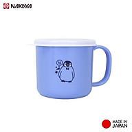 Cốc nhựa nắp mềm dành cho bé Nakaya 200ml (Xanh Hồng) in hình chim cánh cụt dành cho bé yêu - xuất xứ Nhật Bản thumbnail