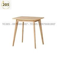 Bàn ăn vuông gỗ cao su 60x60x75 cm - NỘI THẤT TC205 thumbnail