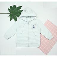 Áo khoác mũ kéo khóa cao cấp cho bé (9-36m) dokma thumbnail
