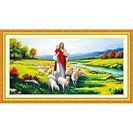tranh đính đá Chúa chăn cừu - chưa đính thumbnail