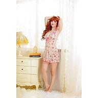 Đầm Ngủ Hoa Viền Nơ Hồng thumbnail