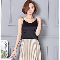 Áo Hai Dây kiểu Cổ Chữ V Chất Lụa Satin Cao Cấp Thời Trang Dành Cho Nữ thumbnail