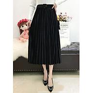 Chân váy xếp ly dáng dài chất liệu nhung cao cấp kèm dây lưng VAY38 Free size thumbnail