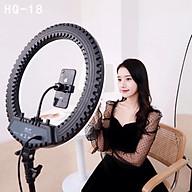 Bộ giá đỡ tripod tích hợp đèn livestream selfie 3 chế độ sáng HQ-18 - Hàng chính hãng thumbnail