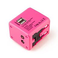 Ổ cắm điện du lịch đa năng quốc tế D995 (Màu ngẫu nhiên) - (Tặng kèm miếng thép đa năng 11in1) thumbnail