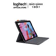 Bàn Phím Không Dây Logitech Slim Folio Pro dành cho iPad Gen 7 & Gen 8 - Đen - Hàng Chính Hãng thumbnail