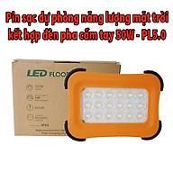 Sạc dự phòng năng lượng mặt trời chính hãng Roiled có đèn pha 50W siêu sáng phù hợp cho việc đi phượt và đi nương rẫy - PL5.0 thumbnail
