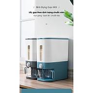Thùng đựng gạo thông minh 12kg thiết kế dạng nhấn nút, chất liệu ABS cao cấp- hàng chính hãng thumbnail