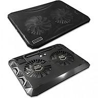Đế tản nhiệt laptop 2 quạt USB có đèn led Cooling N1130 thumbnail