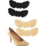 Combo 2 cặp Lót gót giày 4D hình cánh bướm có mặt gai silicone chống trầy rách da và chống tuột gót chân - buybox - BBPK70_2 thumbnail
