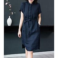 Đầm suông linen cổ đức bổ trụ 2 túi ốp ngực ArcticHunter, thời trang thương hiệu chính hãng thumbnail