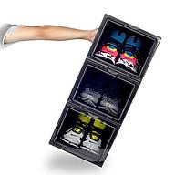 Combo 3 hộp đựng giày sneaker cửa mở nam châm , trọng lượng 1000gr, tháo lắp dễ dàng tặng kèm gói hút ẩm thumbnail