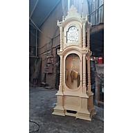 Đồng hồ cây mẫu tháp gỗ gõ đỏ cao 2,3m thumbnail