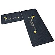 Bộ 2 thảm 2D nhà bếp đế cao su chống trượt 120x40 và 60x40 + kèm 2 khăn lau 30x30 (màu ngẫu nhiên) thumbnail