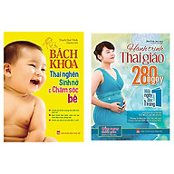 Combo Bách Khoa Thai Nghén, Sinh Nở Và Chăm Sóc Bé Hành trình thai giáo 280 ngày tặng 1 cuốn truyện song ngữ anh việt ngẫu nhiên thumbnail