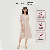 Đầm dáng xòe nữ thiết kế rã tùng cổ ren GUMAC DB3124 thumbnail