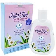 Dung Dịch Vệ Sinh Phụ Nữ Ritafive (100ml) - Mềm mại tự nhiên, ngăn ngừa viêm nhiễm, kháng khuẩn, chống nấm, ngăn mùi phụ khoa, giúp bạn tự tin trọn 24h thumbnail