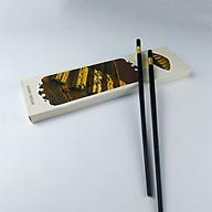 Bộ 10 Đôi Đũa Mạ Vàng, Đũa Hợp Kim Chống Mốc thumbnail