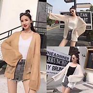 Áo khoác nữ cadigan len mỏng khoác ngoài chất liệu dệt kim cao cấp thumbnail
