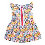 Đầm Bé Gái Hoa Vàng Gài Nút Trước CucKeo Kids T11933 thumbnail