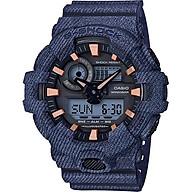 Đồng Hồ Nam Dây Cao Su Casio G-Shock-Ga-700De-2Adr-Tròn Nam Đen Kim Hình Điện Tử SG Vàng Hồng thumbnail