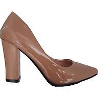 Giày cao gót vuông da bóng 7 phân siêu mềm Osos thumbnail