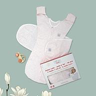 Nhộng chũn quấn ủ kiêm túi ngủ và quấn ủ tay 100% Cotton cho bé sơ sinh Tinylove luyện bé ngủ easy - tặng 2 khăn quàng cổ cotton thumbnail