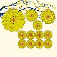 Combo 12 Bông Hoa Mai Vàng Xốp Chúc Mừng Năm Mới Trang Trí Nhà Cửa Đón Tết thumbnail