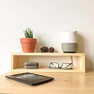 Kệ gỗ trang trí để bàn đa năng Giá sách để đồ tiện dụng bàn làm việc thumbnail