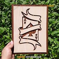 Tranh Treo Tường Bằng Gỗ Handmade DOHU008 Lá Bài Át Cơ - Thiết Kế Đơn Giản, Độc Đáo, Sang Trọng thumbnail
