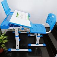 Bàn học sinh chống gù, chống cận đa năng, điều chỉnh độ cao bàn ghế, mặt bàn nghiêng 60 độ thumbnail