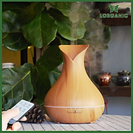 Máy khuếch tán máy xông tinh dầu Lorganic FX2021 bình hoa màu vàng Phun sương sóng siêu âm Thích hợp xông phòng diện tích 15-40m2. thumbnail