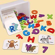 Bộ thẻ ghép chữ và số giúp bé học chữ và nhận biết con vật thumbnail