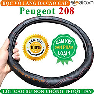 Bọc Vô Lăng Da dành cho Xe Peugeot 208 Lót Cao Su Non Cao Cấp Chống Trượt Tay thumbnail