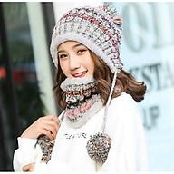Mũ Len Nữ Kèm Khăn Choàng Nón Len Nữ Kèm Khăn Thời Trang Hàn Quốc - DONA21012901 thumbnail