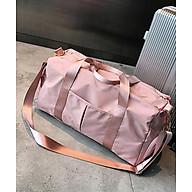 Túi xách du lịch, túi đựng đồ tập Gym chống thấm nước có ngăn để giày - Màu Hồng thumbnail