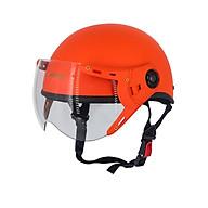 Mũ bảo hiểm nửa đầu kính càng 1 2 SRT ép nhiệt - Cam nghệ nhám - Cao cấp thumbnail