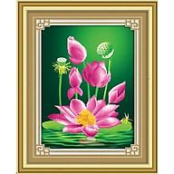 Tranh thêu chữ thập 3D Hoa Sen Thanh Khiết (41 52cm) chưa đính thumbnail