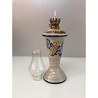 Đèn thờ đốt dầu ( gốm men rạng nỗi ) gốm bát tràng cao cấp Đk 9cm. Cao 29,5cm thumbnail